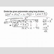 Long Division Of Polynomials With No Remainder Youtube