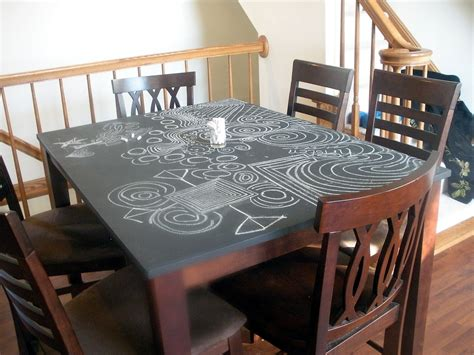 chalkboard paint kitchen table chalkboard table top