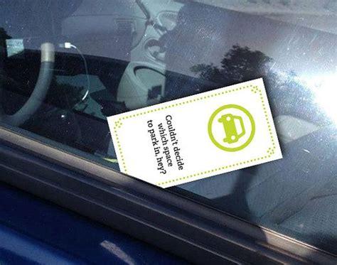 printable funny mini bad parking cards bad