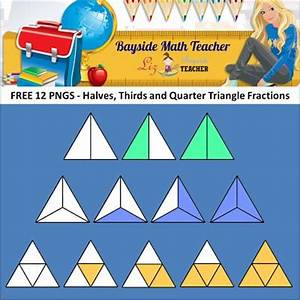 FREE Fraction Clipart - Halves, Thirds and Quarter ...