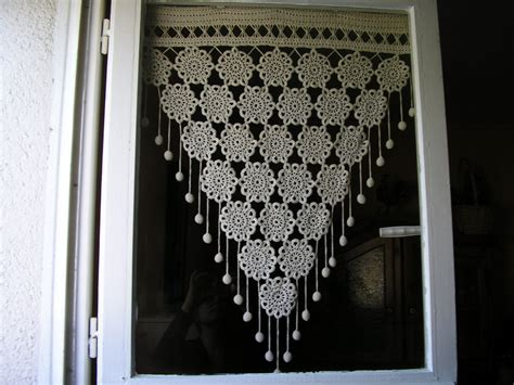 rideaux style ouessant crochet curtain perde crochet