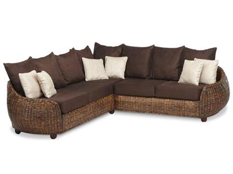 vente unique canapé angle canapé d 39 angle symétrique agrigente en tissu et rotin