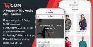 ECom Mobile App HTML Template By BootXperts ThemeForest
