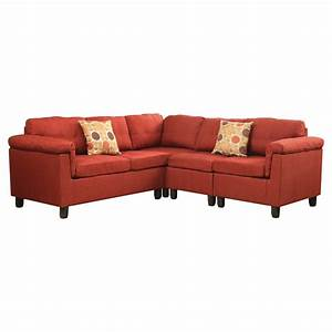 cleavon reversible sectional sofa acme ebay With small sectional sofa ebay