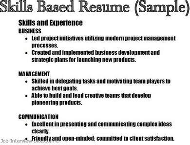 Key Skills To Put On Resume by Key Skills In Resumes Skill Based Resume Skills Summary