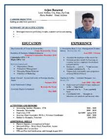 What Is The Best Resume Format For College Students by Resume Format Sles Free Professional Resume Format Word Doc