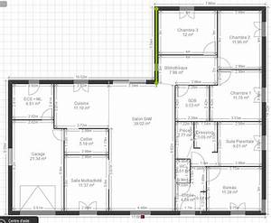 Plan de maison plain pied 200m2 for Plan maison plain pied 200m2