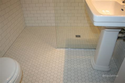 Hexagonal Tiles For Bathroom Floor by Hexagonal Shower Floor Tiles Traditional Bathroom