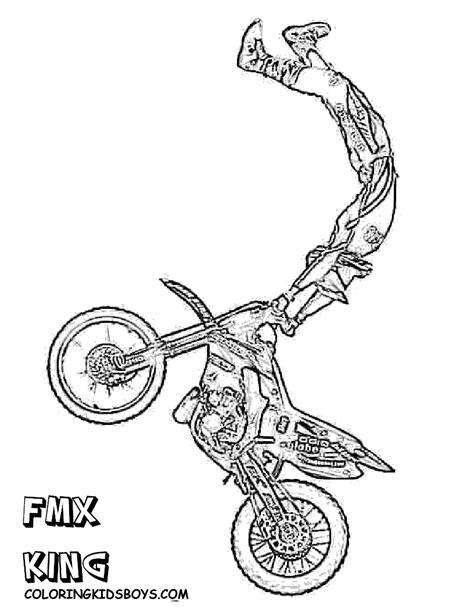 dessins gratuits  colorier coloriage motocross  imprimer