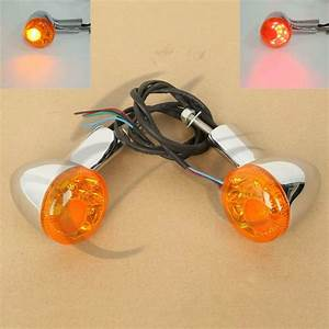 4 Wire Rear Led Turn Signal Indicator Light For Harley Xl
