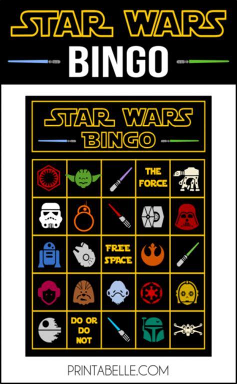 Star Wars Printable Bingo Game Party Printables Games