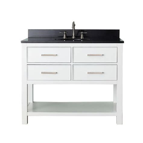 avanity brooks 42 inch w vanity in white with granite top