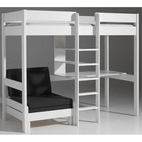 bureau en mezzanine lits chambre literie lit mezzanine avec fauteuil