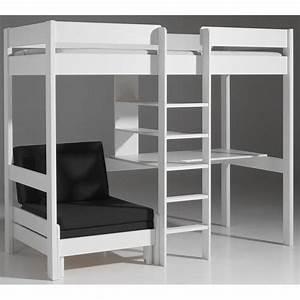 lits chambre literie lit mezzanine avec fauteuil With tapis oriental avec lit mezzanine avec canapé