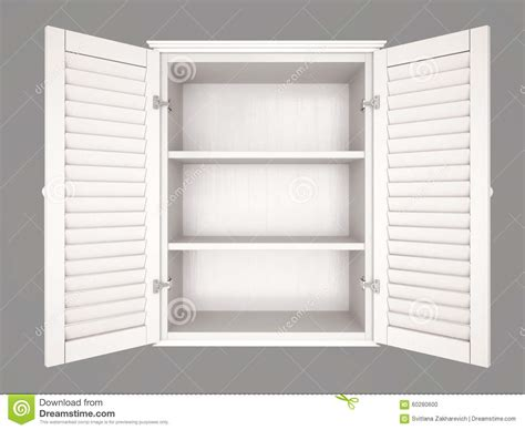 Illustration Of Empty Cupboard Stock Illustration