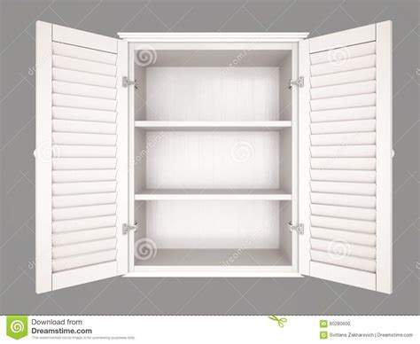 Illustration Of Empty Cupboard Stock Illustration   Image