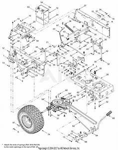 Troy Bilt 13aj689g766 Tuffy  2004  Parts Diagram For Drive  Controls  Rear Wheels