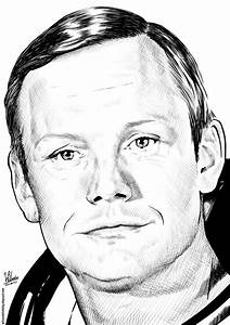 Neil Armstrong (Ink drawing)