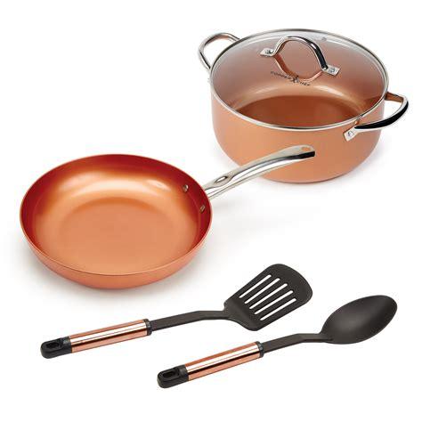 copper chef casserole  piece set walmartcom walmartcom