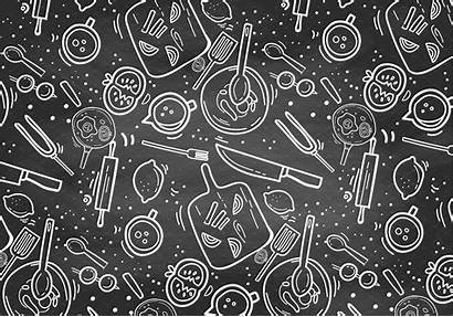 Chalkboard Pattern Cooking Vector Graphic Chalk Patterns