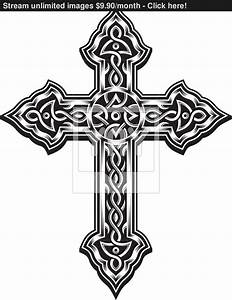 Ornate Christian Cross vector | YayImages.com