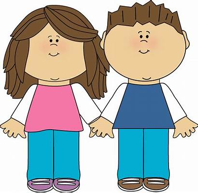 Brother Sister Clipart Reading Paper January