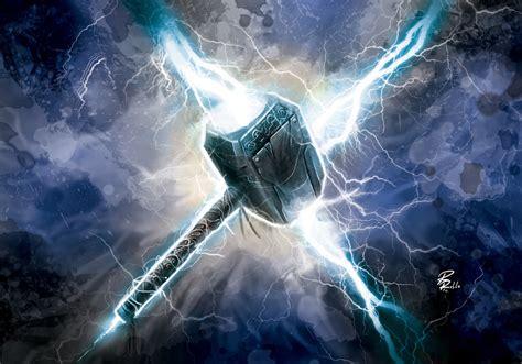 Thor Ragnarok Desktop Wallpaper Mjolnir By Shiprock On Deviantart