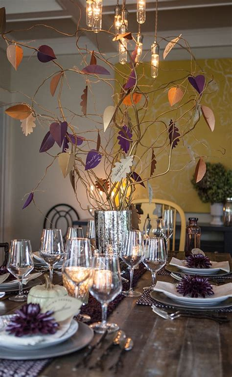 beautiful leaf centerpieces thanksgiving decor ideas