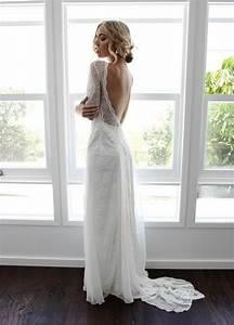 1001 idees pour une vision chic avec la robe de mariee en With robe longue dos nu dentelle