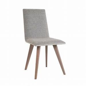 Chaise En Bois : chaise moderne en bois et tissu enoa 4 ~ Melissatoandfro.com Idées de Décoration