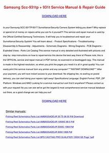 Samsung Scc 931tp 931t Service Manual Repair By
