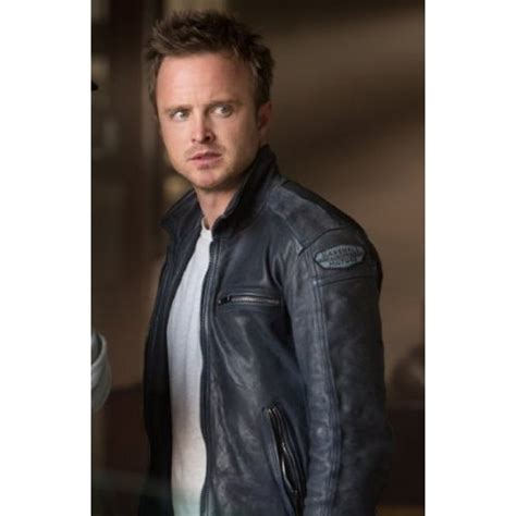 aaron paul in need for speed nfs aaron paul need for speed leather jacket