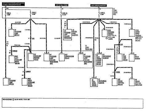 mercedes benz 300e 1990 1991 wiring diagrams fuse