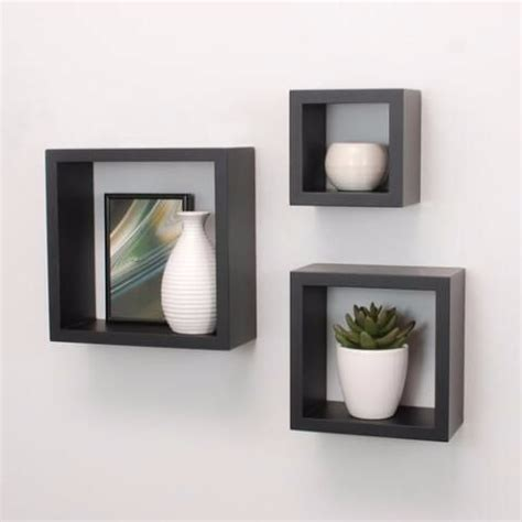 set  repisa cuadro flotante elegante minimalista