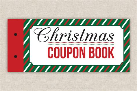 Printable Coupons Blank Christmas Coupon Book Love Coupons