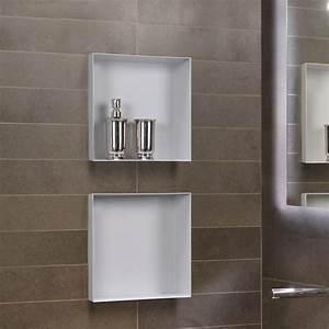 niche murale etagere murale pour salle de bain en acier With niche de salle de bain