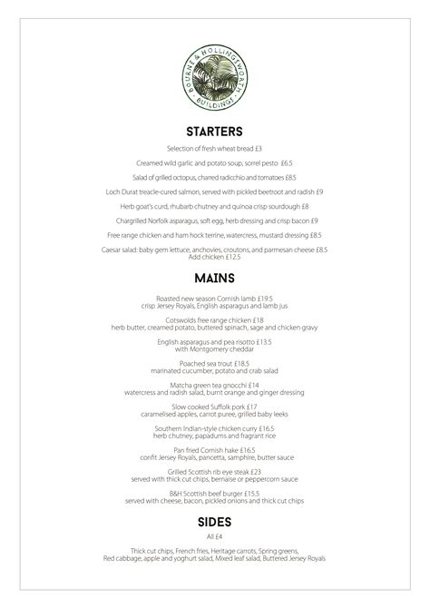 Burns Supper Menu Template by Bourne Hollingsworth Burn S Bourne And