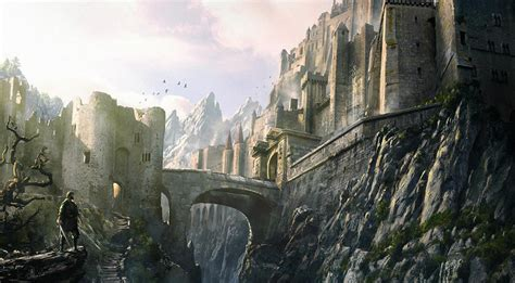 siege lacoste mountain fortress digital paintings fantasycoolvibe
