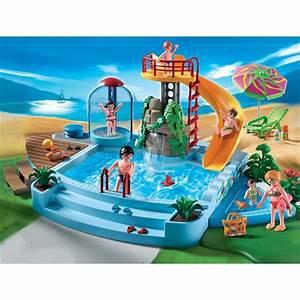 playmobil 4858 piscine et toboggan achat vente univers With playmobil piscine avec toboggan pas cher