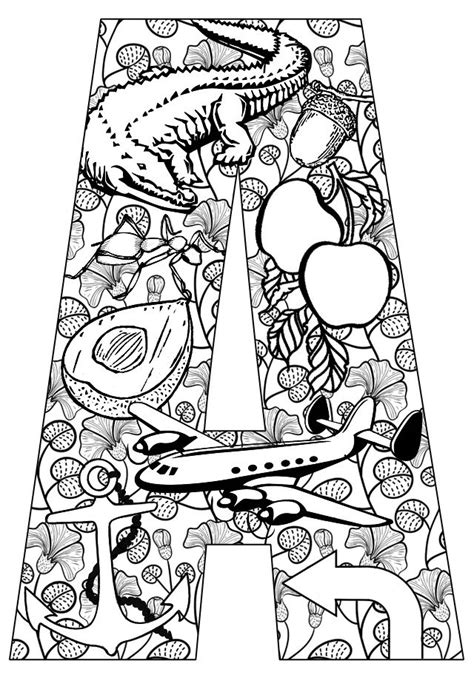 color that starts with ak things that start with a free printable coloring pages