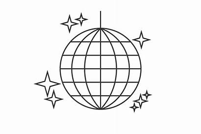 Disco Ball Line Icon Drawing Creativemarket Business