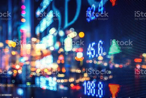 Display Stock Market Numbers And Graph Stock Photo ...