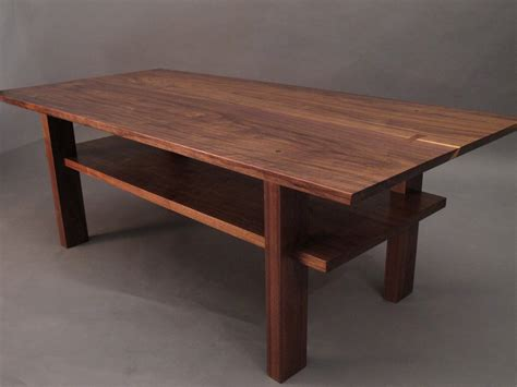 Custom Walnut Coffee Table  Coffee Table Design Ideas
