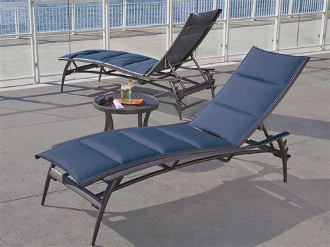 chaises aluminium tropitone echo padded sling aluminum chaise lounge 189932ps