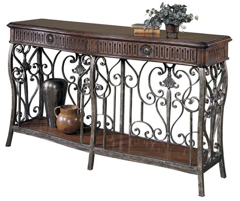 metal console table with drawers furniture brown wooden console tables with shelf having