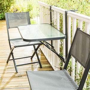 Table De Balcon : table de balcon pliante en acier coloris gris wilsa garden ~ Teatrodelosmanantiales.com Idées de Décoration