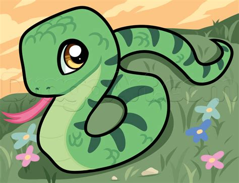 learn   draw  snake  beginners reptiles animals