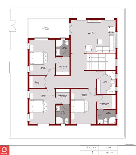 Home Design Plans by 4 Bedroom House Plans Houzone