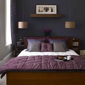 Bedroom, Design, Decor, Dark, Purple, Bedrooms, Idea
