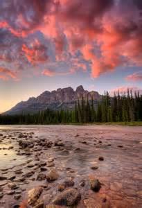 Sunset Castle Mountain Alberta
